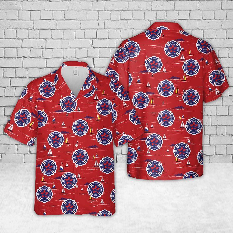 El Paso Fire Department Hawaiian Shirt and short