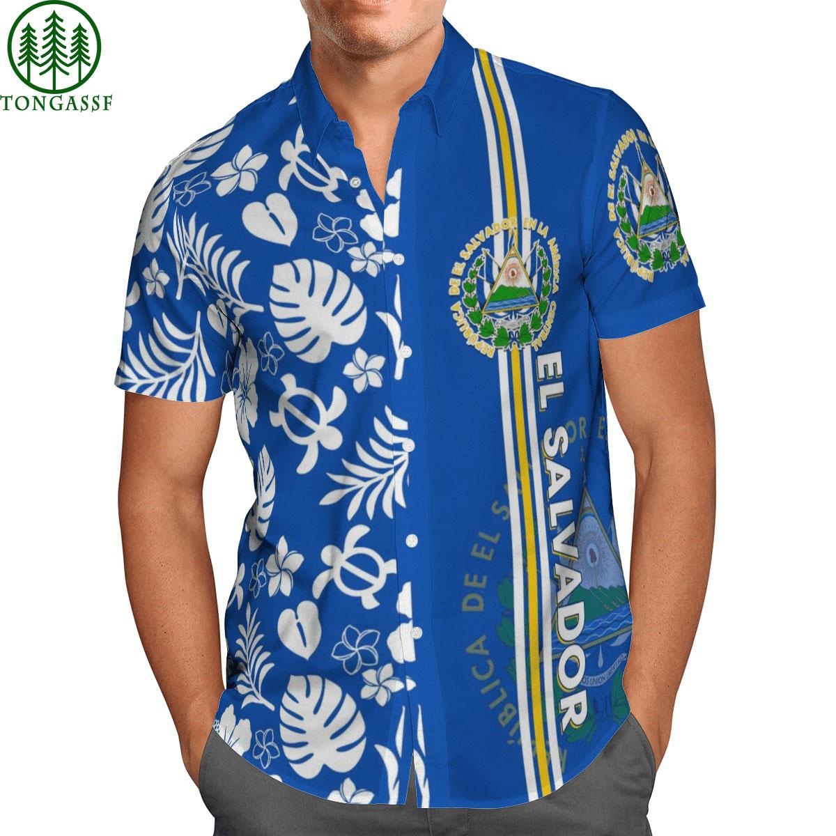 El Salvador Ocean Blue hawaii shirt
