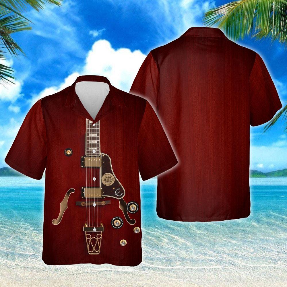 Electric Guitar Hawaiian Shirt