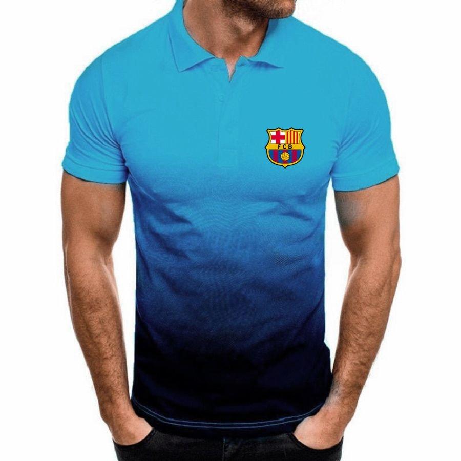 FC Barcelona football club gradient Polo Shirt