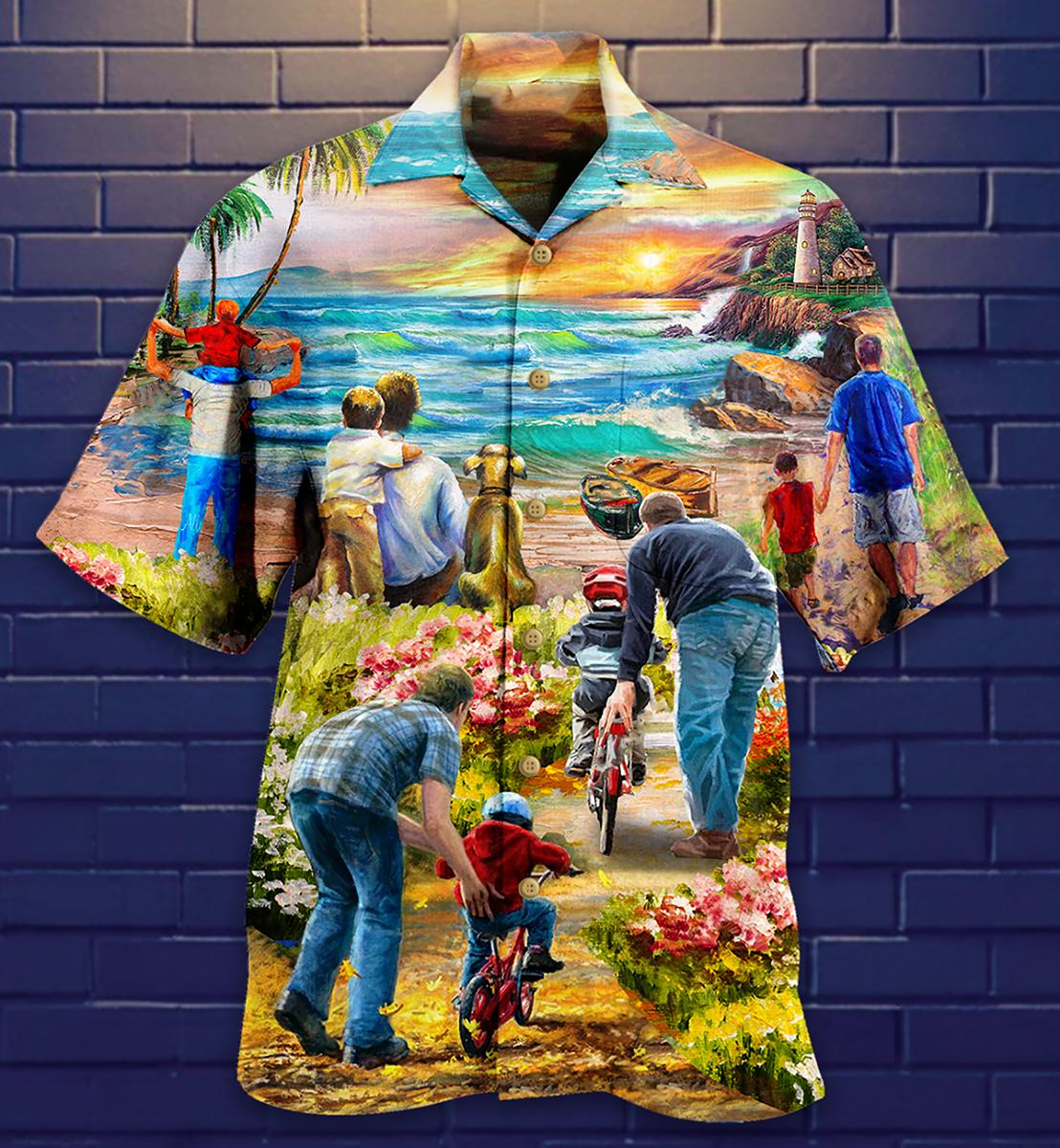 Family Love Dad Love Son Hawaiian shirt