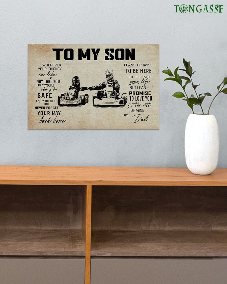 Father and Son F1 racing horizontal poster