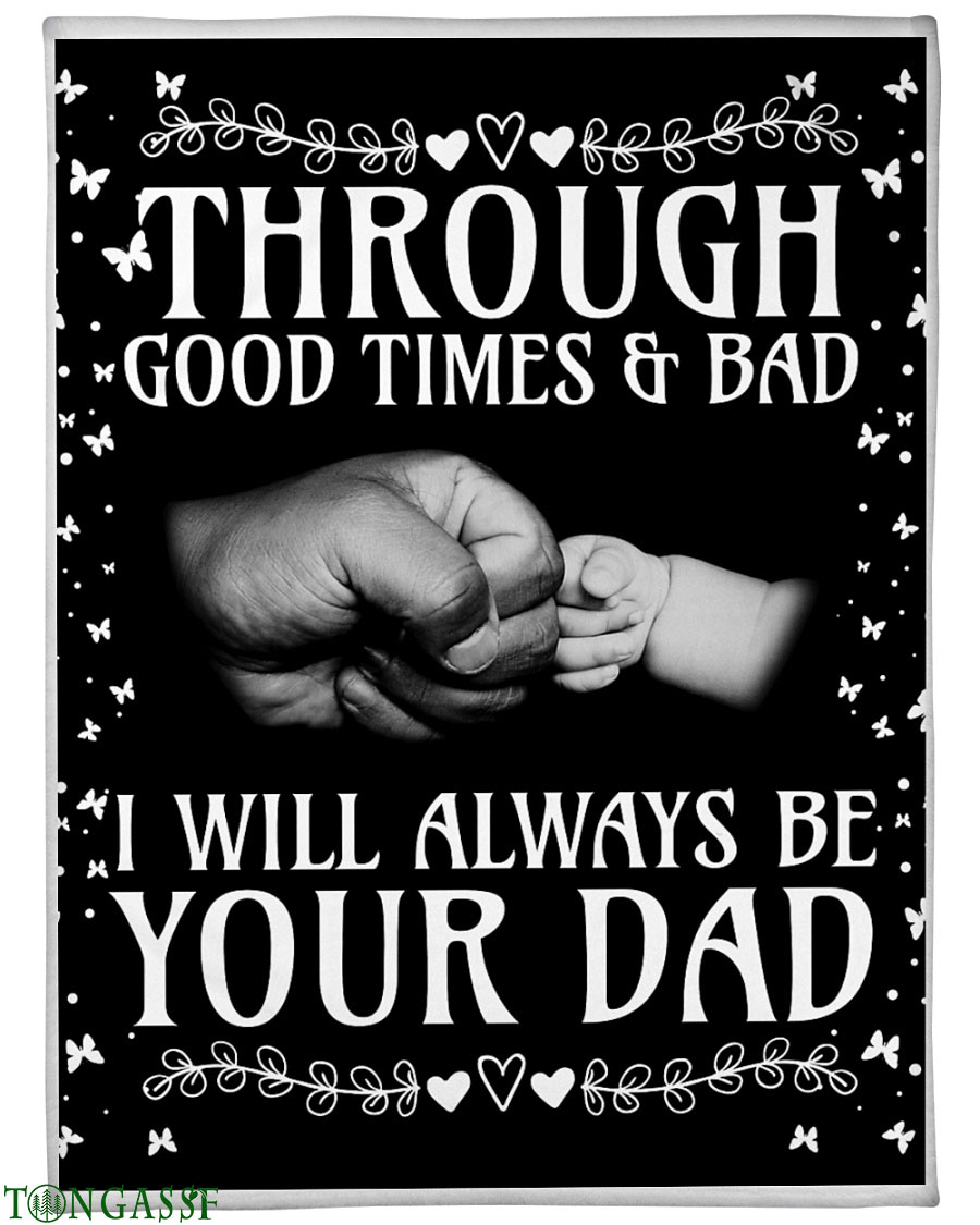 Father and Son fist bump fleece blanket