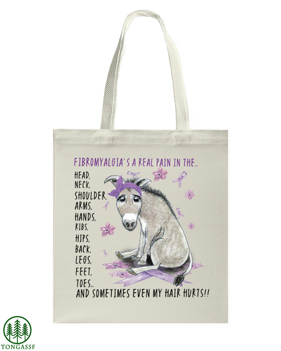 Fibromyalgia donkey tote bag