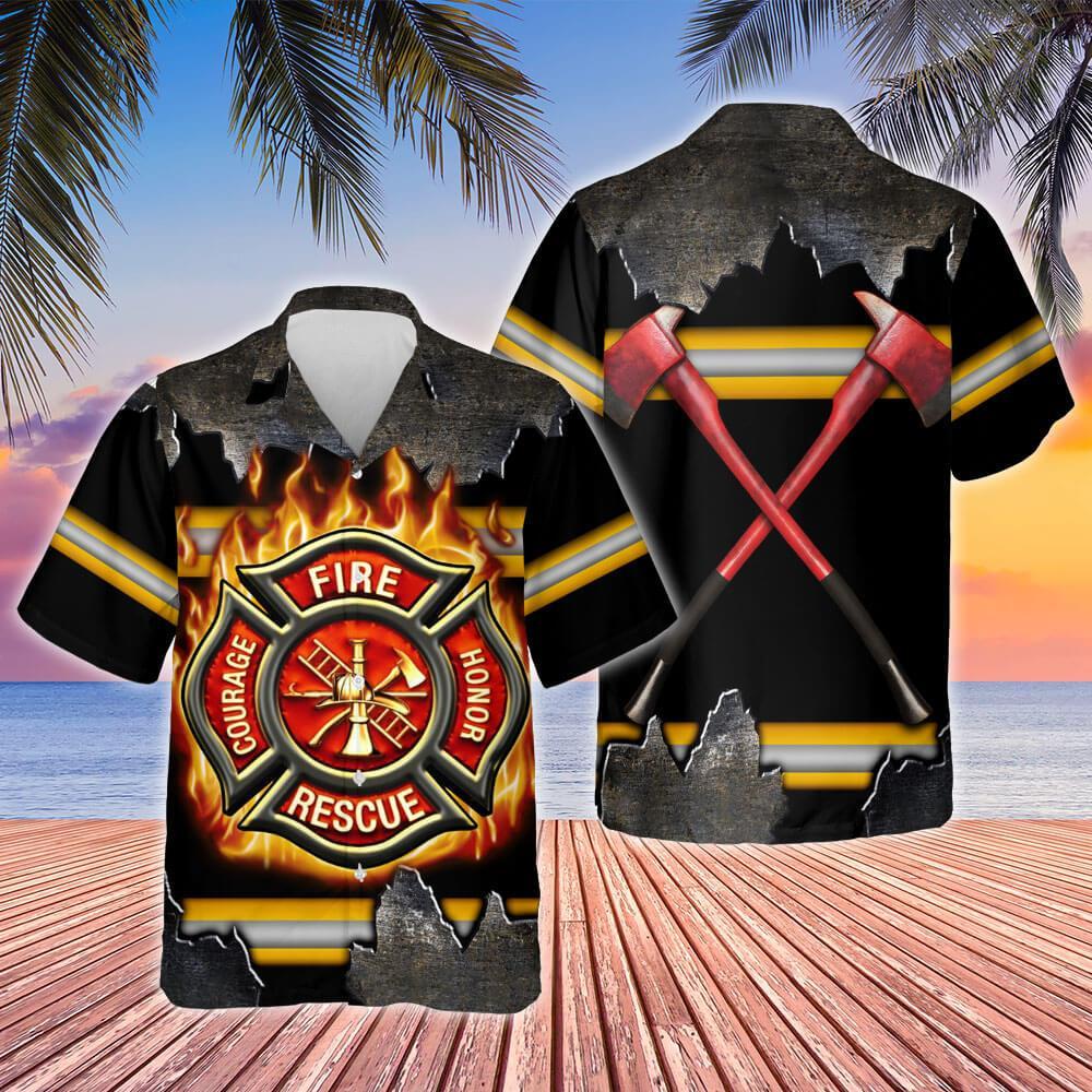 Firefighter Hawaiian Shirt