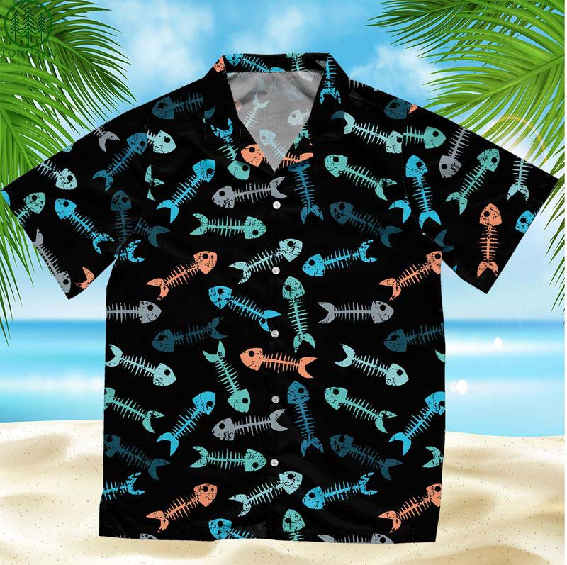 Fishing Bone Hawaiian Shirt