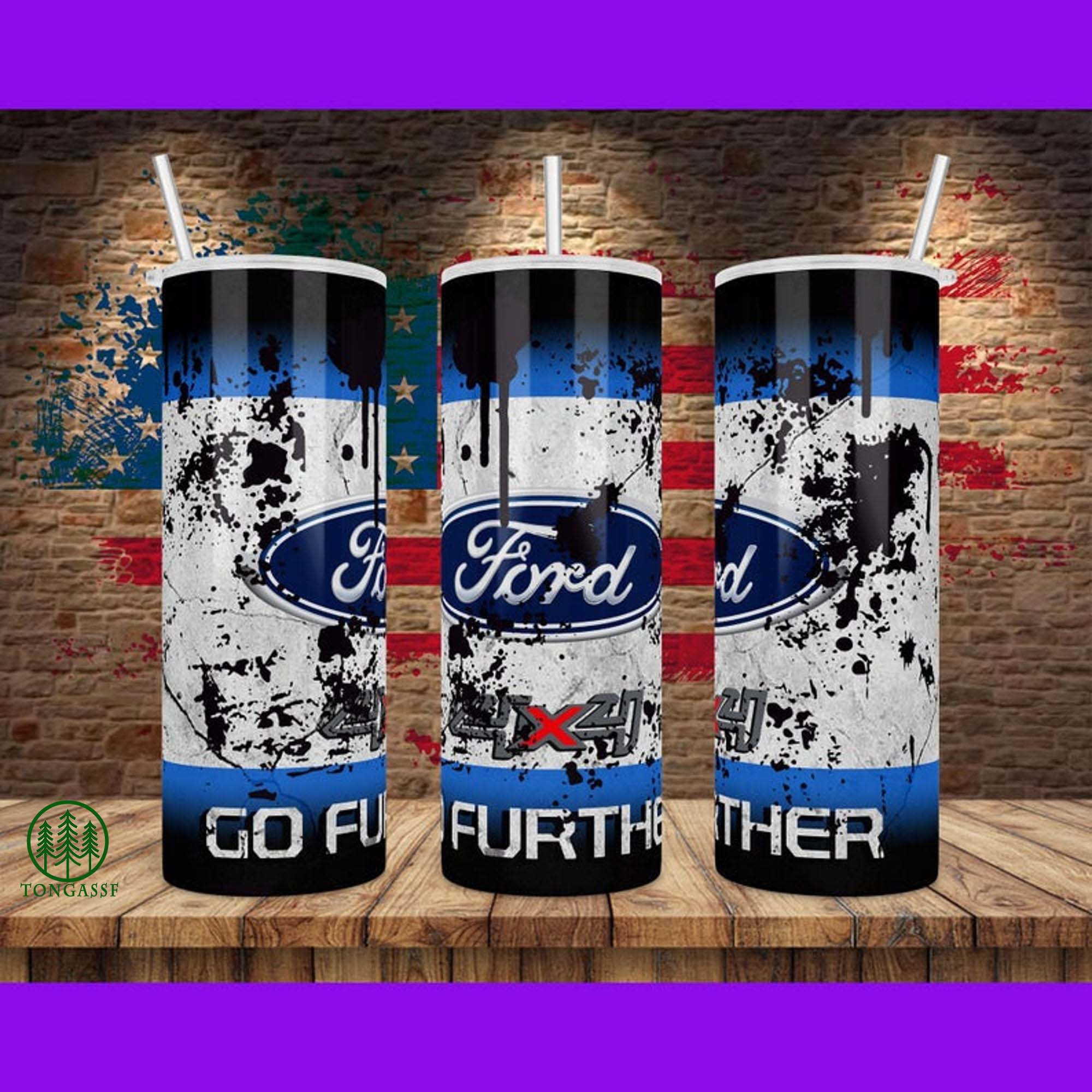 Ford Go Further Skinny Tumbler