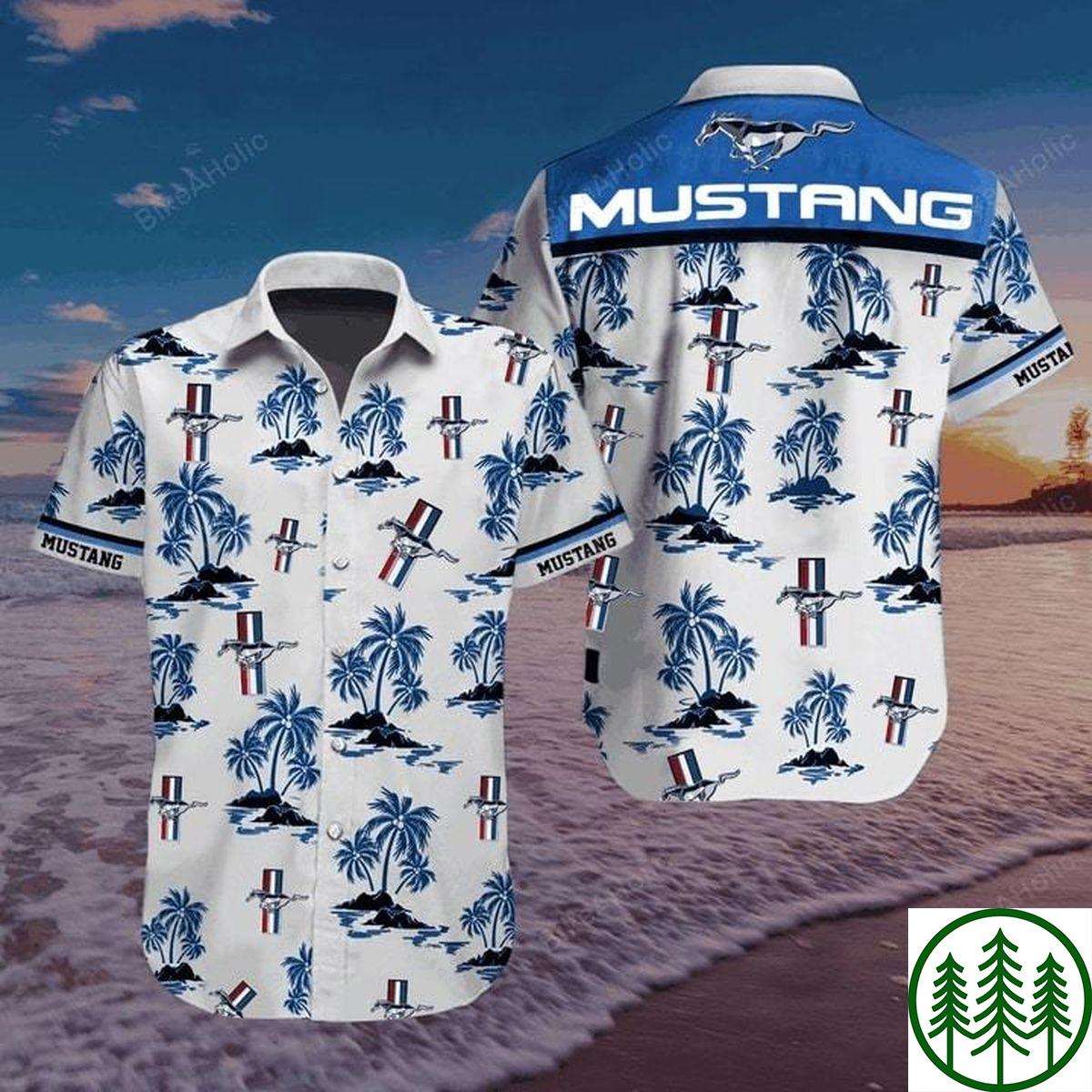 Ford Mustang Pony Tribar hawaiian shirt
