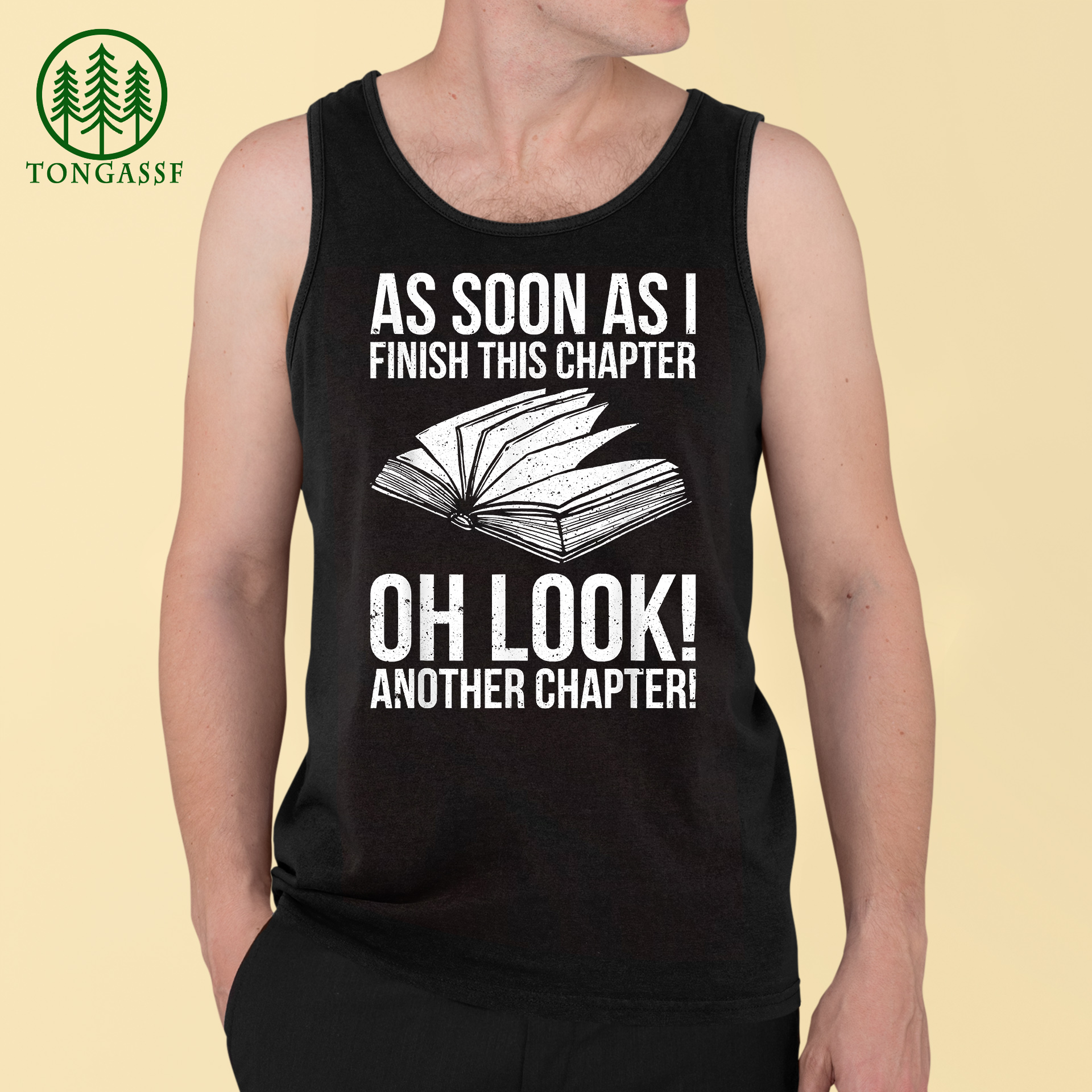 Funny I finish this chapter another chapter Book Lover T-Shirt