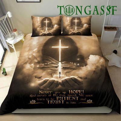 God Jesus hand and moon art style bedding set