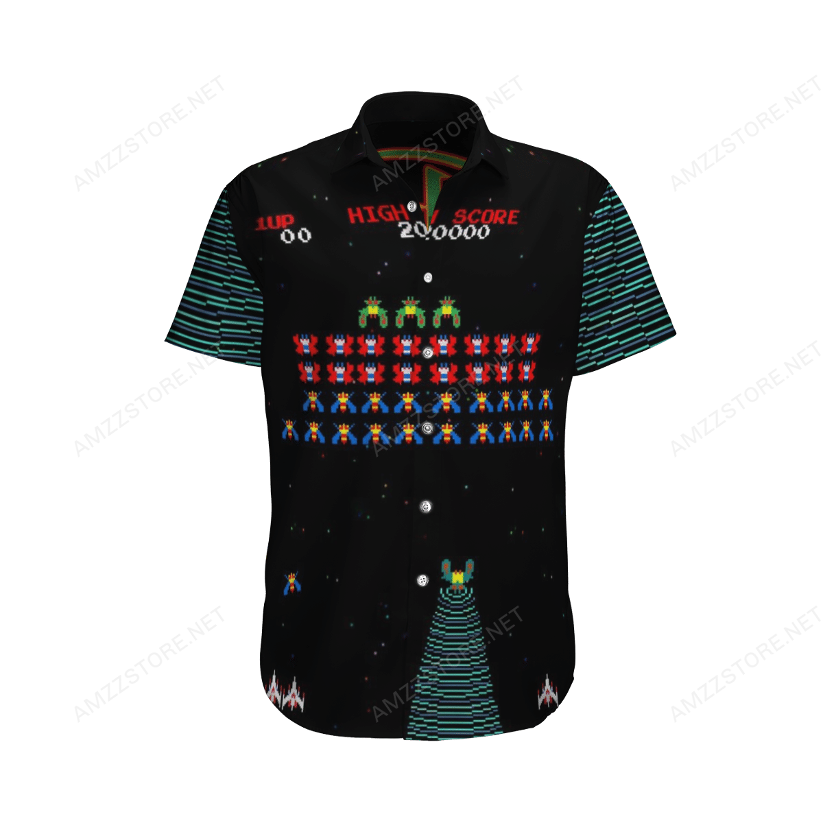 Galaga Galaxian NES Game Hawaiian Shirt