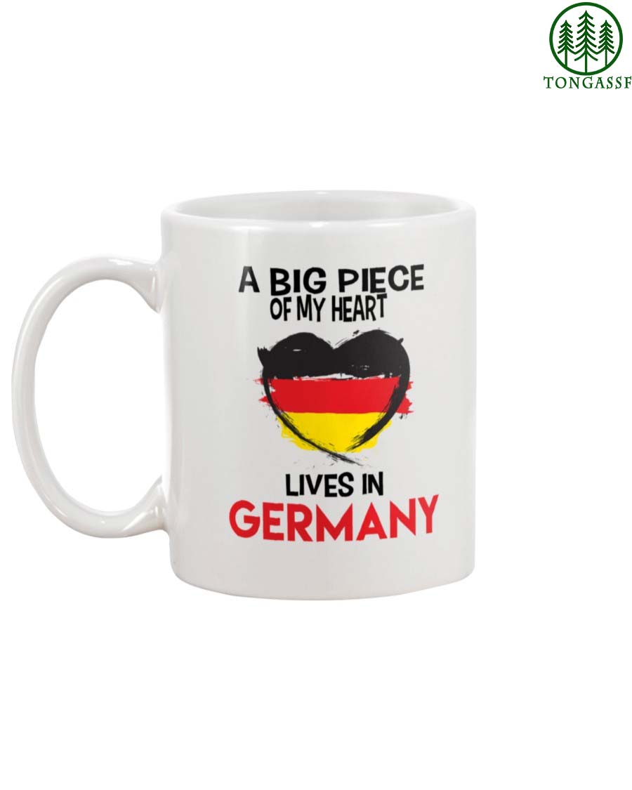 German A Big Piece Of My Heart Lives In Germany White Ceramic Mug
