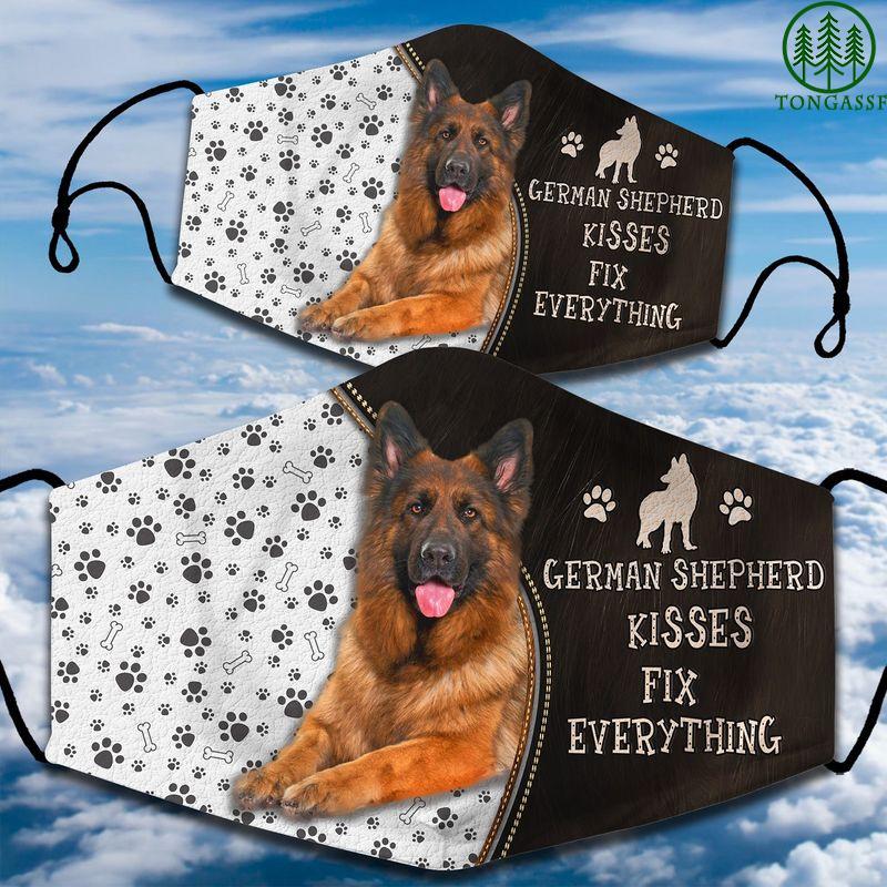 German Shepherd kisses fix everything face mask