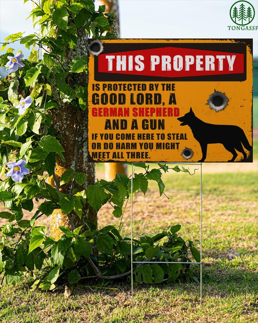 German Shepherd protect this property Yard Signs