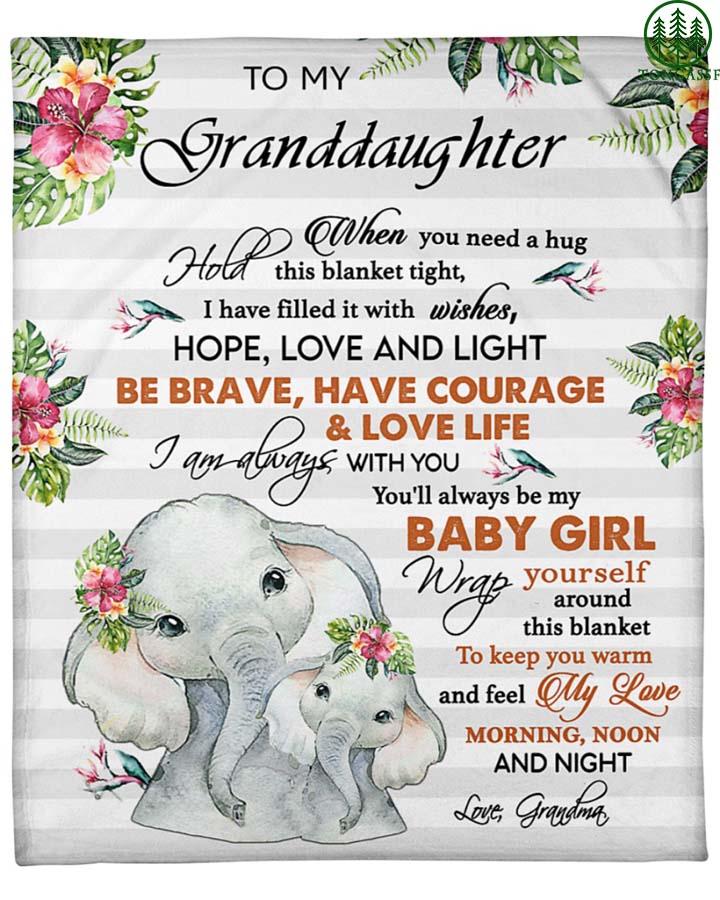 Gift for your granddaughter baby girl Fleece Blanket