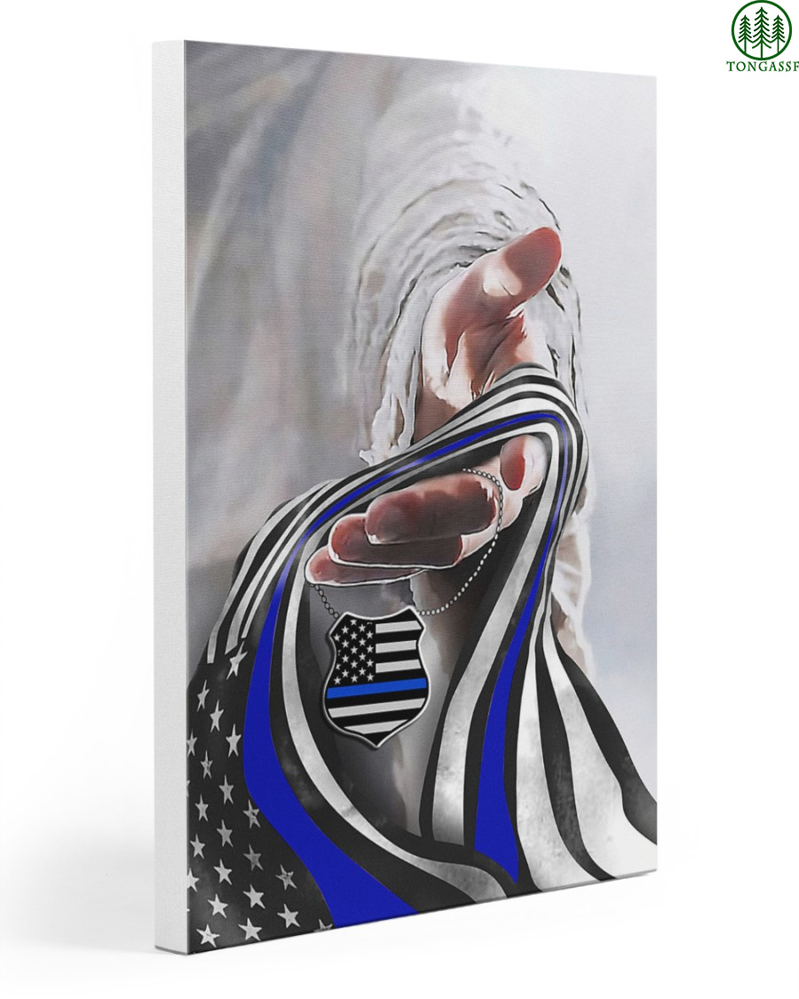 God And Blue American Flag Gallery Wrapped Canvas Prints
