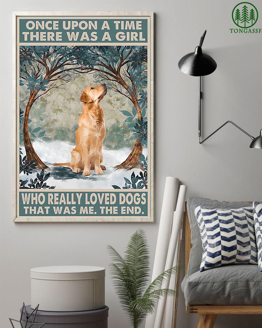 Golden Retriever for girl love dogs vintage poster