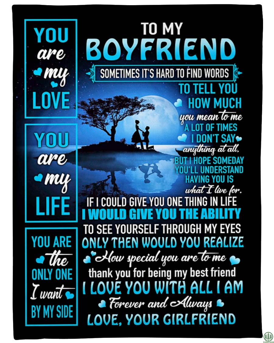 Great Gift For Boyfriend You Are My Love You Are My Life Sky Fleece Blanket