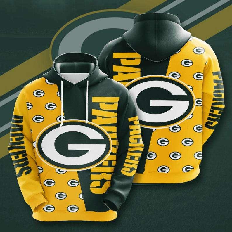 Green Bay Packers NFL Logo 3D Hoodie