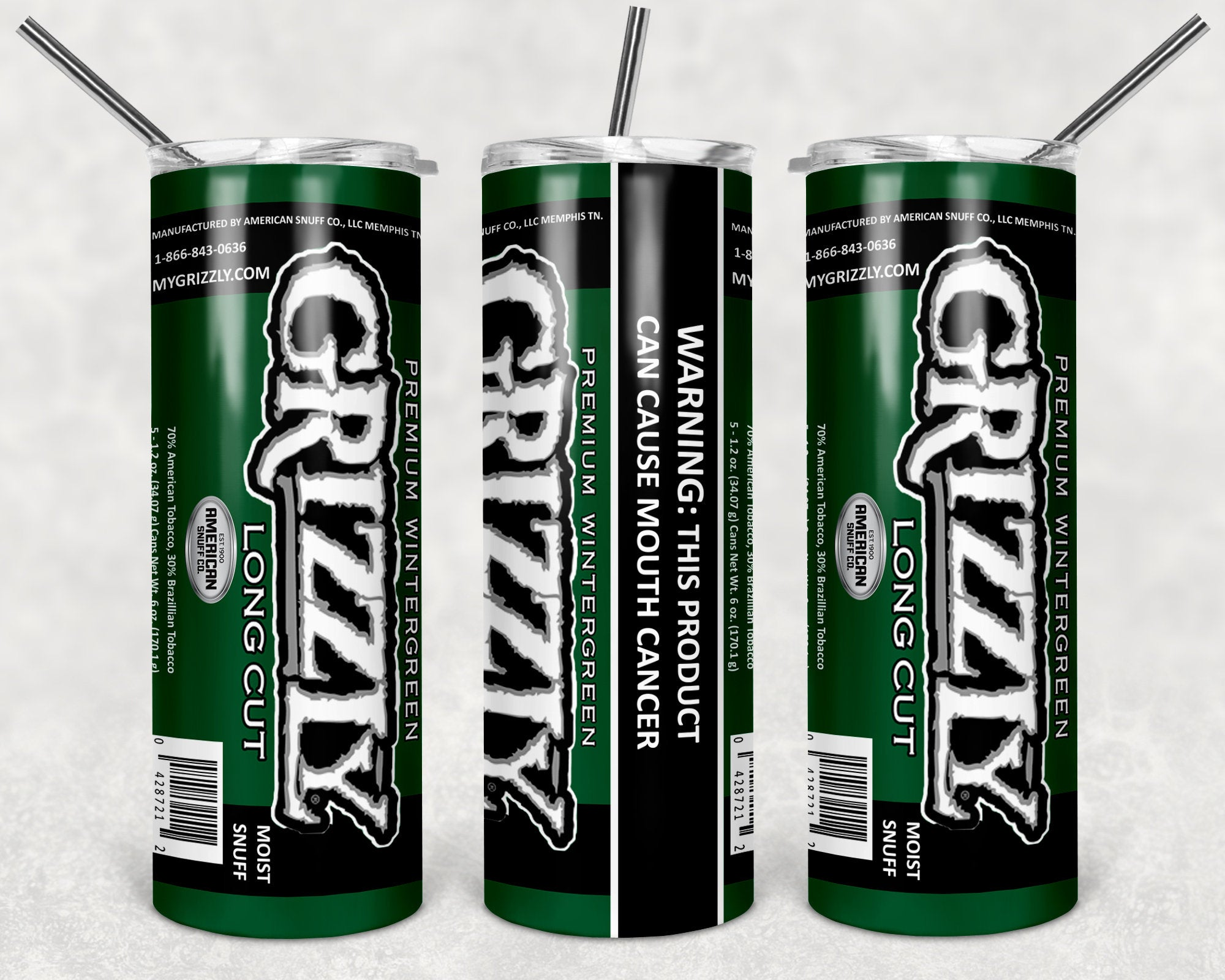 Grizzly Winvergreen Skinny Tumbler