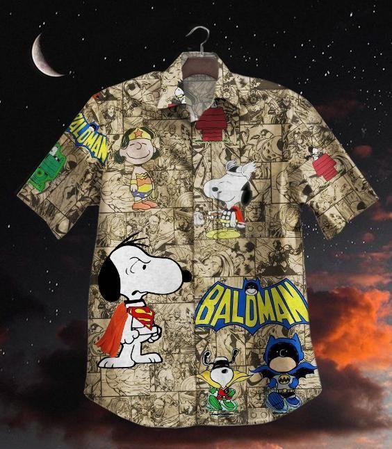HOT DC comic hero Snoopy dog Hawaiian Shirt
