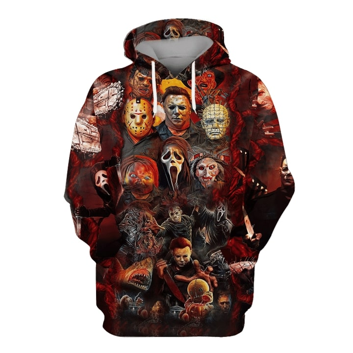 Halloween all Horror movie character hoodie and sweatshirt