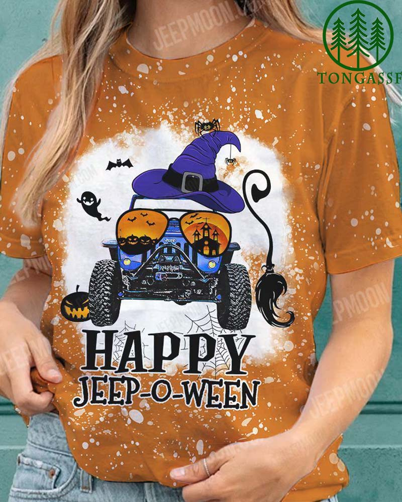 Happy Jeep-o-ween HALOWEEN 3D T shirt