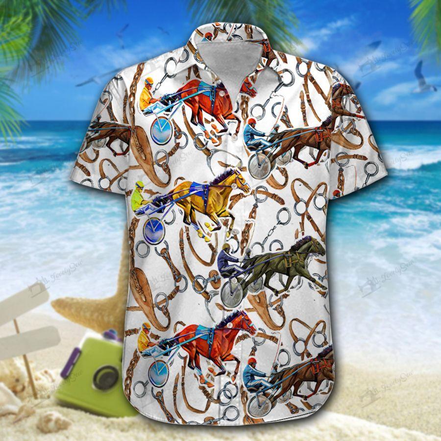 Harness Racing Men Hawaiian Shirt