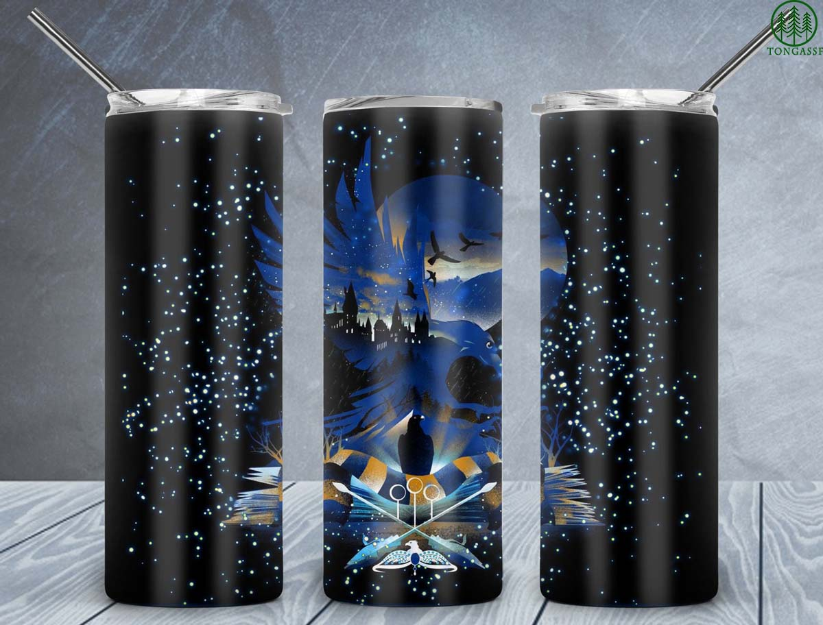 Harry Potter Magical School Book Ravenclaw skinny tumbler