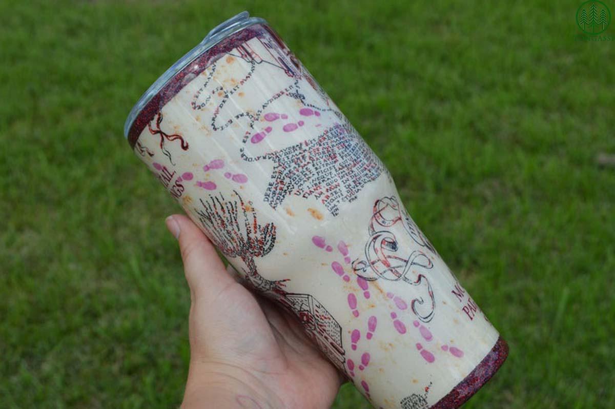Harry Potter Marauders Map tumbler cup