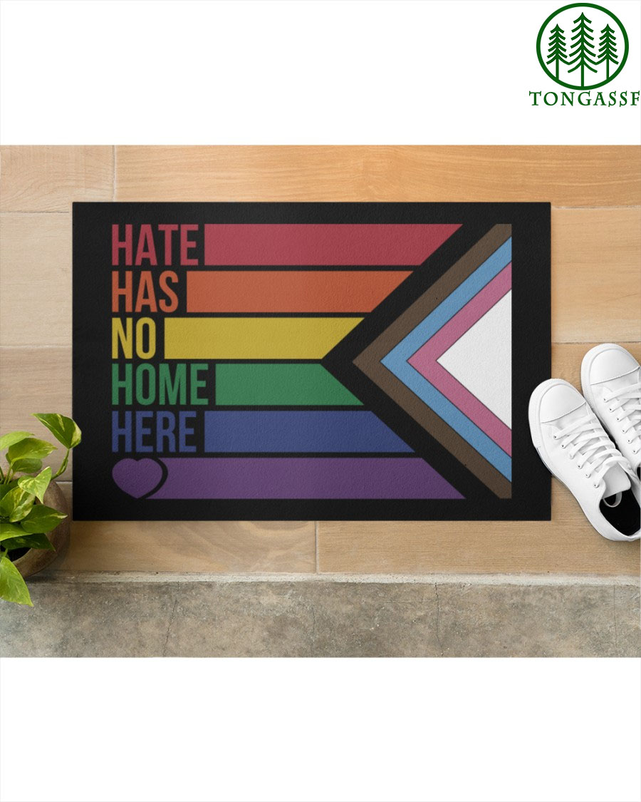Hate has no home here LGBT doormat