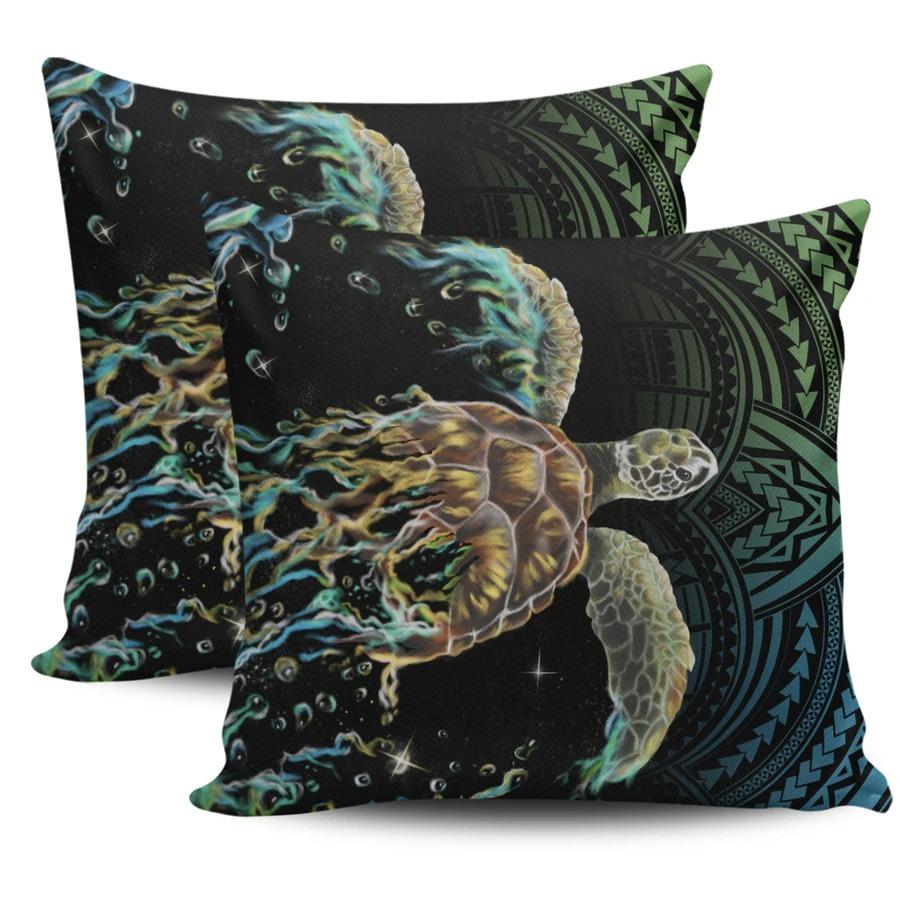 Hawaii Sea Turtle Polynesian Pillow Covers