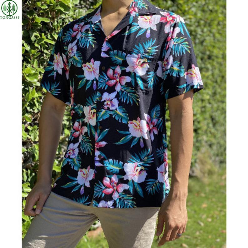 Hawaiian Rayon New Orchid Aloha Shirt