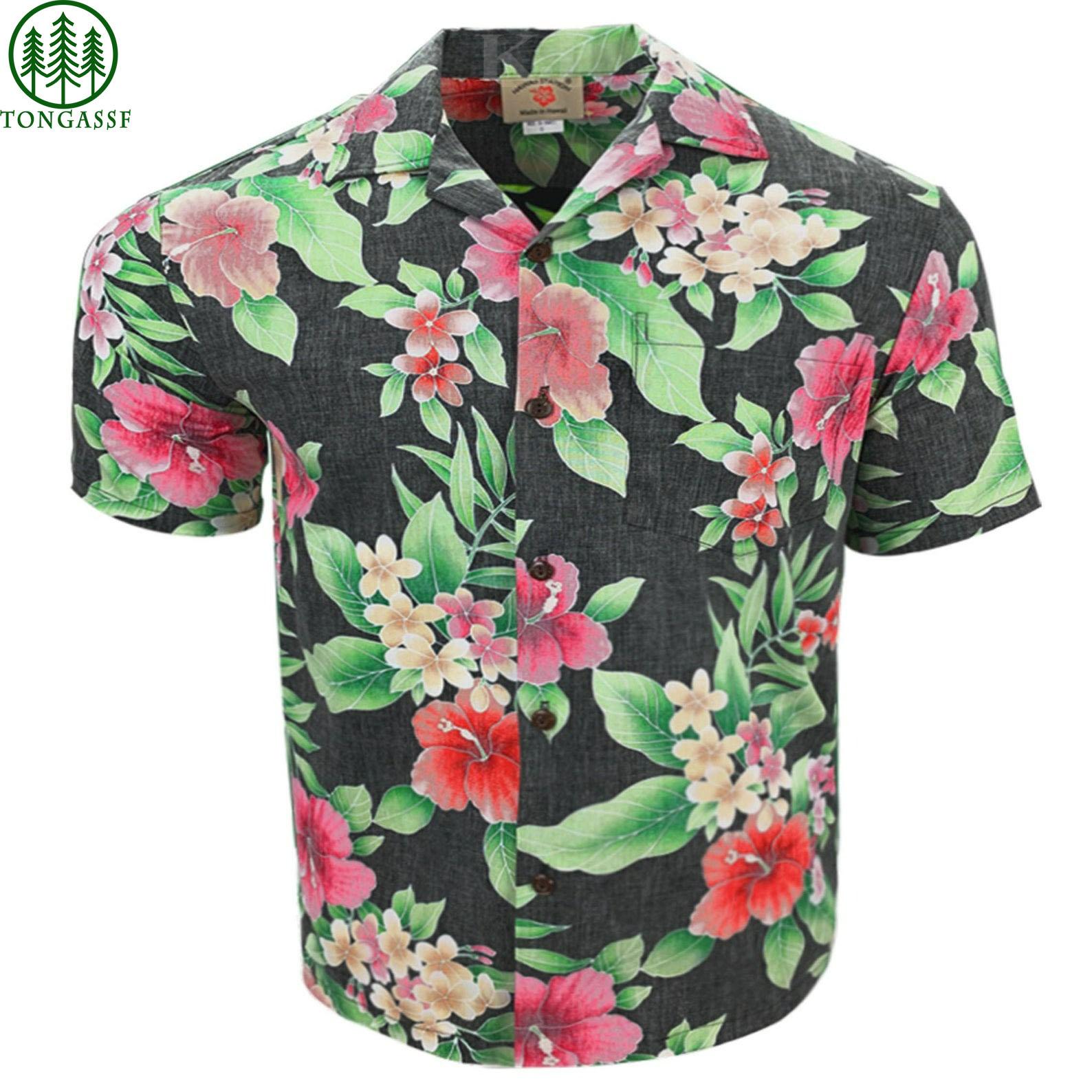Hawaiian Reversed Floral t Shirt