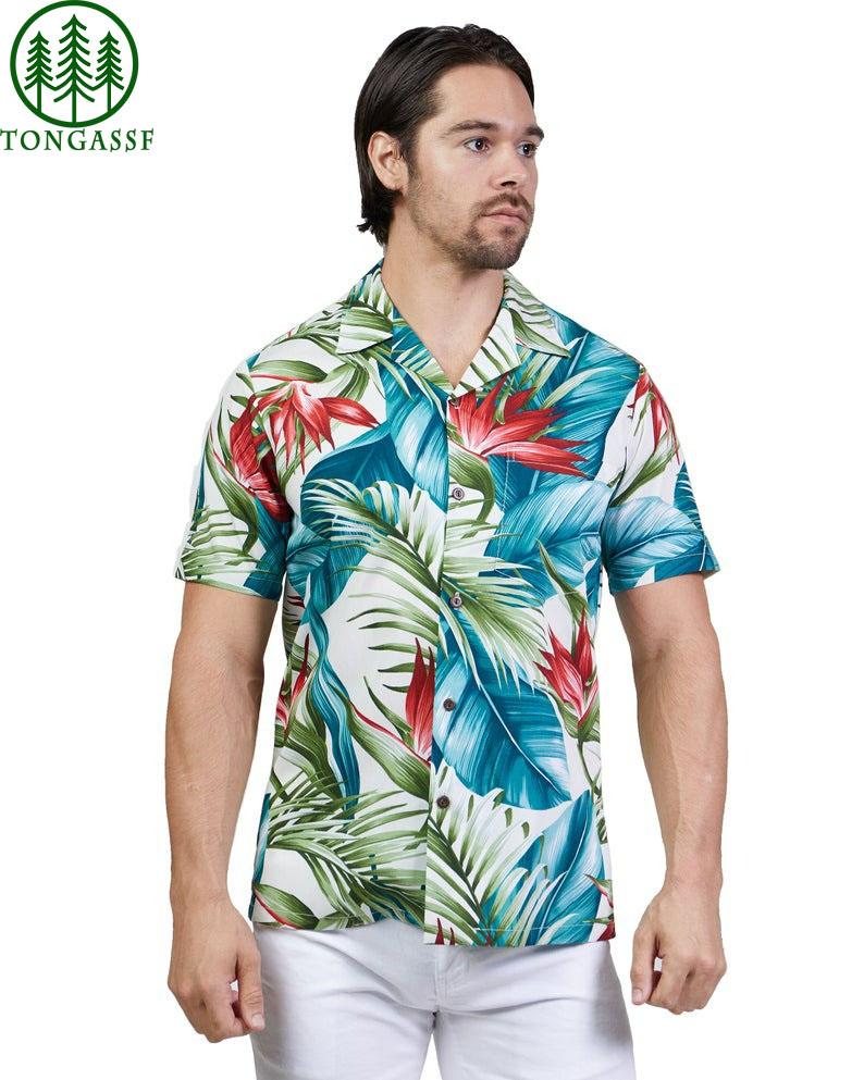 Hawaiian Shirt Leaf Bird of Paradise