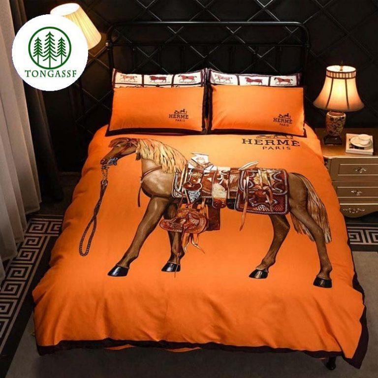 Hermes Paris horse bedding set