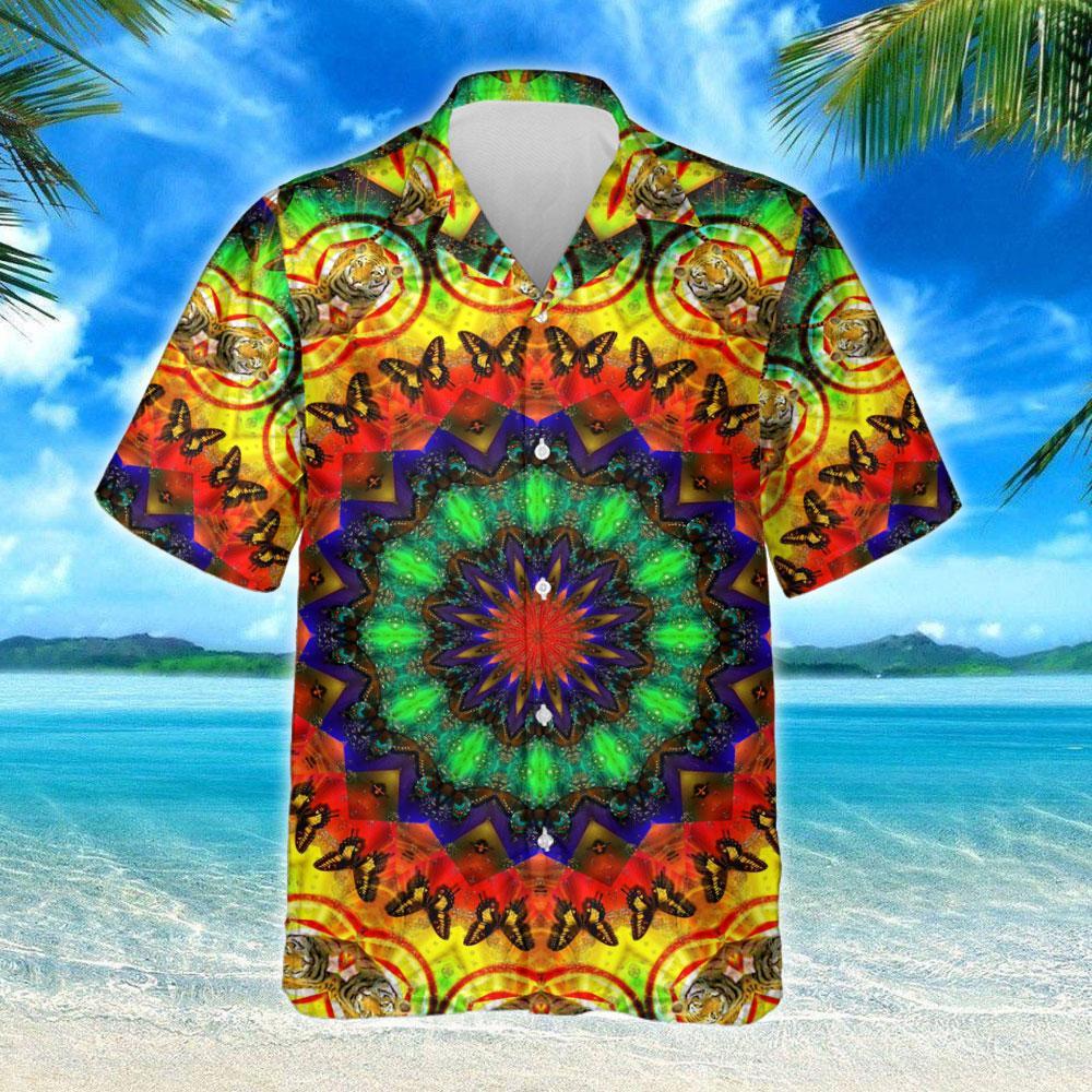 Hippie Heart Imagine All The People Living Life In Peace Hawaiian Shirt 2