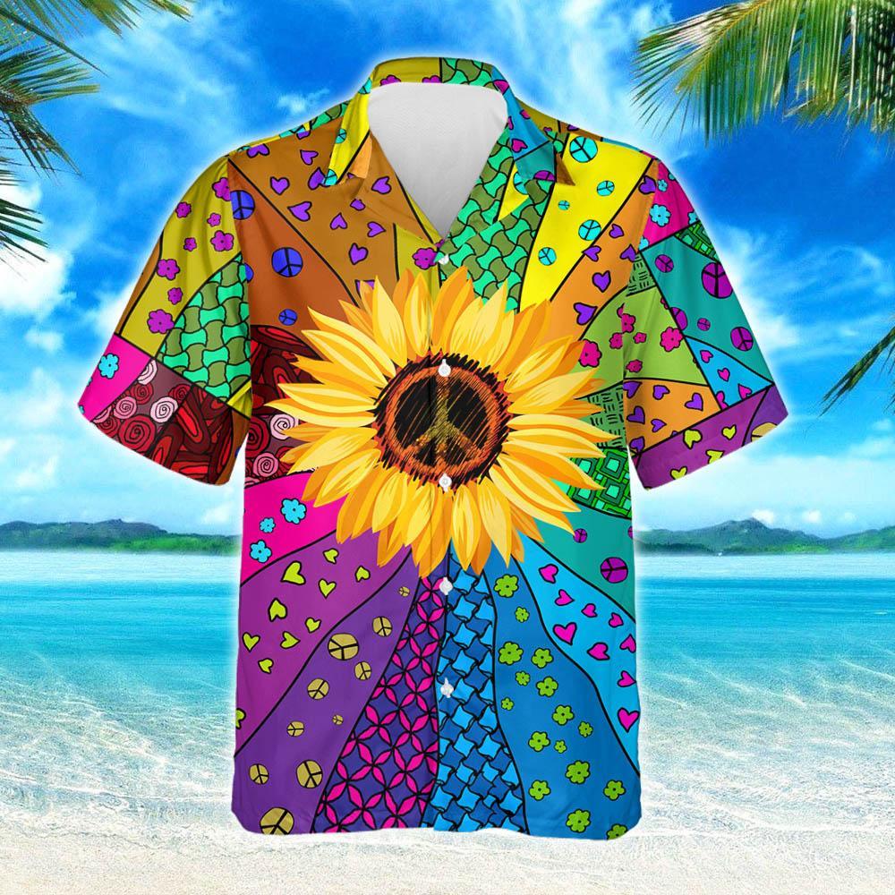 Hippie Sunflower Hawaiian Shirt 2