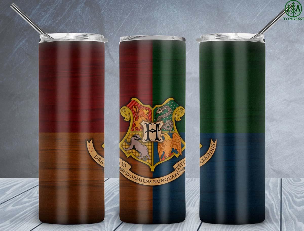 Hogwarts logo Houses Harry Potter skinny tumbler