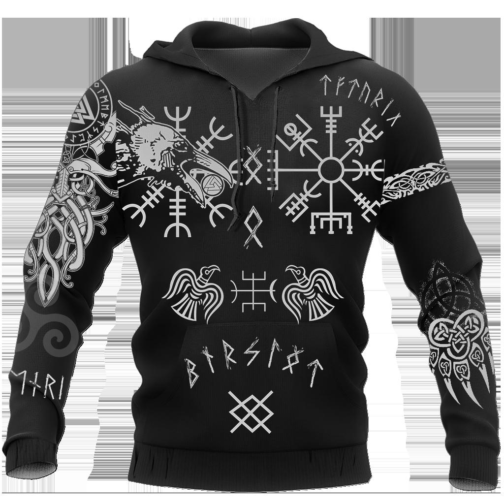 Hugin And Munin Viking Tattoo Hoodie 3D