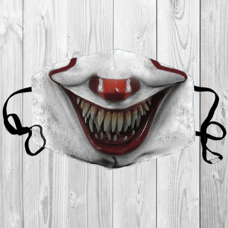 Horror Character Halloween Pennywise IT face mask