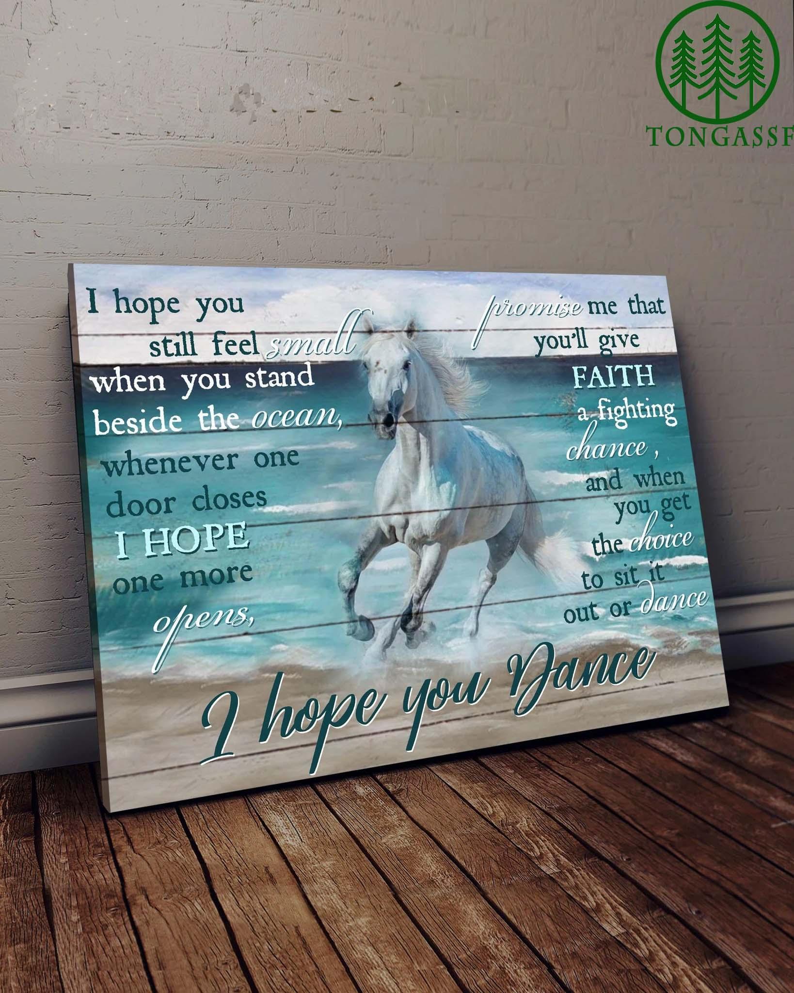 Horse And Beach I Hope You Dance Canvas