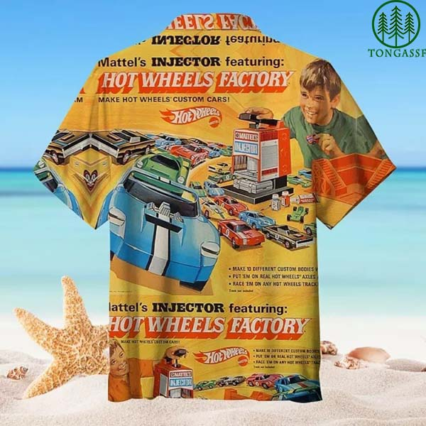Hot Wheels car factory Hawaiian Shirt T shirt