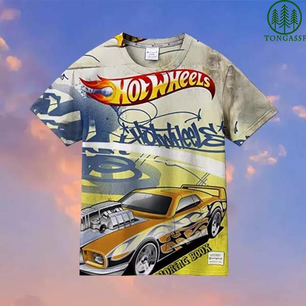Hot Wheels coloring book Hawaiian Shirt T shirt