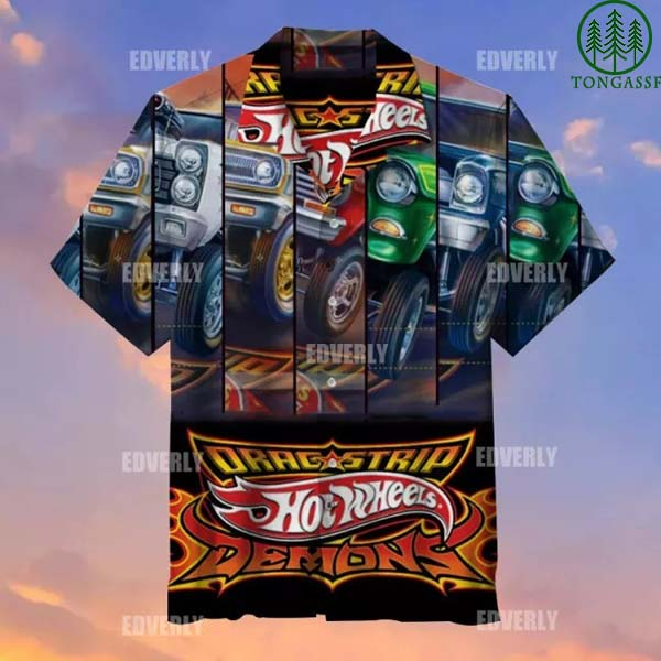 Hot wheels Demons Drag Strip Hawaiian Shirt and T-shirt