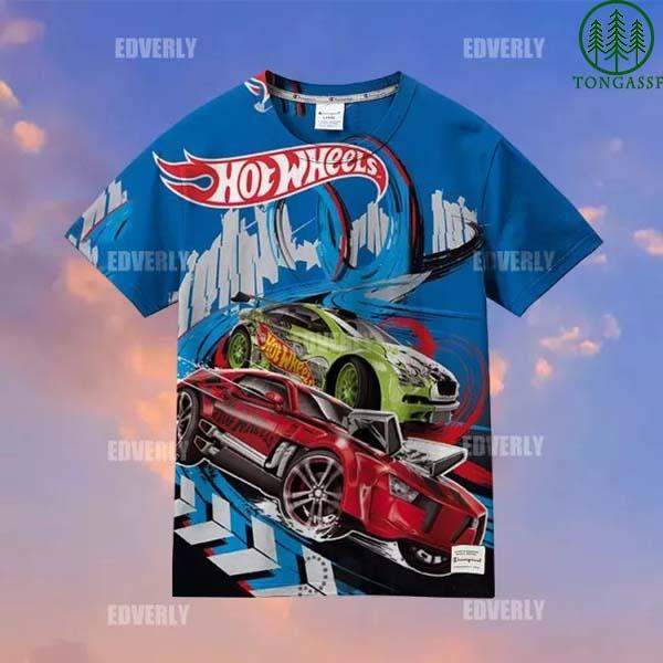 Hot wheels Modern Performance Hawaiian Shirt and T shirt