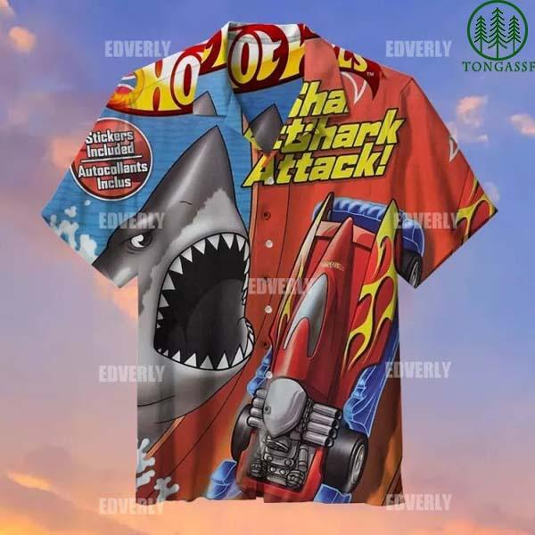 Hot wheels Racing Shark Attack Hawaiian Shirt T shirt