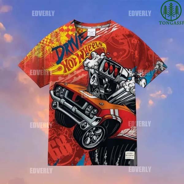 Hot wheels Red Rodger Dodger Hawaiian Shirt Tshirt