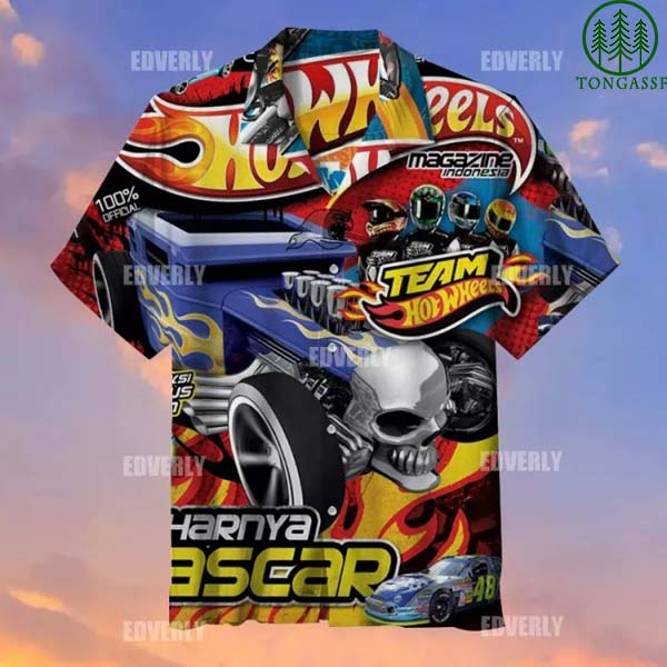 Hot wheels Team Magazine Indonesia Hawaiian Shirt T shirt