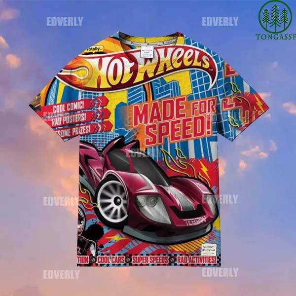 Hot wheels Teegray supper Speed Hawaiian Shirt T shirt